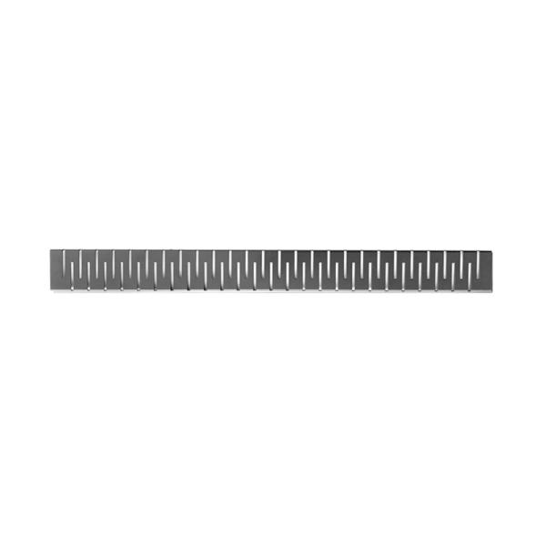 """Душевой канал Styron с полированной решеткой 700 мм """"Медиум"""" с """"сухим"""" сифоном, черный STY-M-70-FF"""