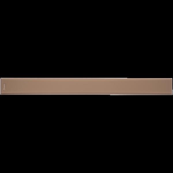 """Душевой канал со стеклянной решеткой 700 мм (PARSOL BROWN) с """"сухим"""" сифоном STY-G2-70"""